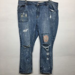 Cato Distressed Skinny Ankle Jeans 20W